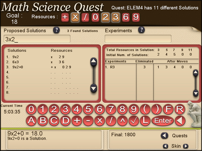 Math Science Quest is a fun way to learn the reasoning skills. quick Screen Shot